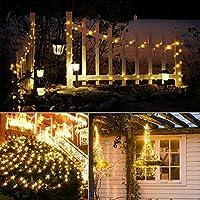 flintronic® Guirnalda de Luces Solares, 1PCS/100LED Luces Jardín (8 Modos)10M/33pies Auto Encendido/Apagado Alambre de Cobre, Luz Decorativa Impermeable para Navidad, Fiesta, Jardín (Blanco Cálido): Amazon.es: Iluminación