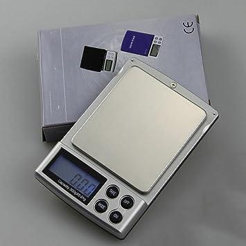 PESAR Mini balanzas electrónicas 2000g Gramos de precisión pesando Bolsillo de té de Oro Llamado Escala pequeña Palma DE 0,1 g Dijo: Amazon.es: Hogar