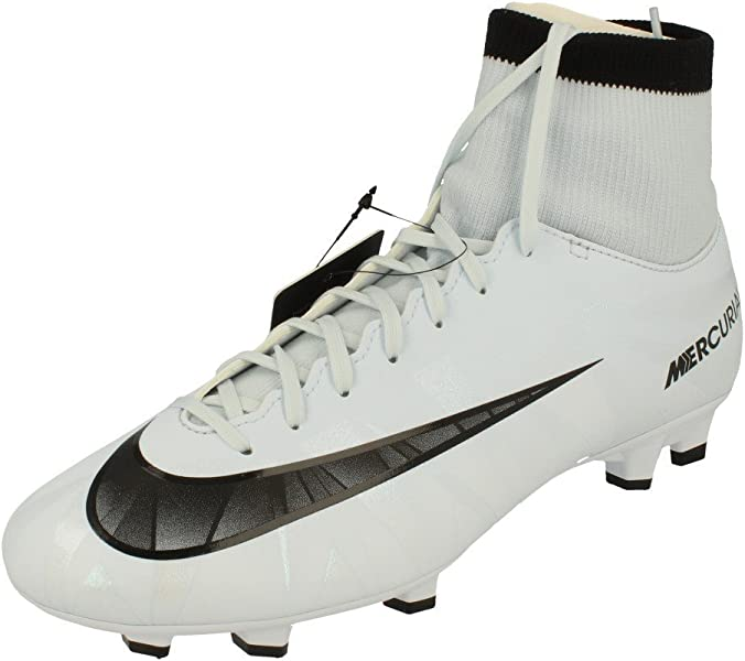 differently 588ff fb03e Nike Men s Mercurial Victory VI CR7 DF FG Football Boots, White(Blue Tint