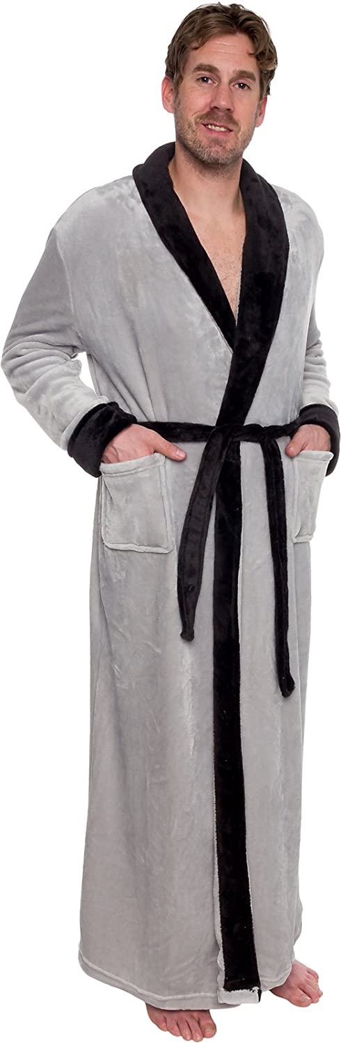 Ross Michaels Mens Long Robe - Full Length Big & Tall Bathrobe