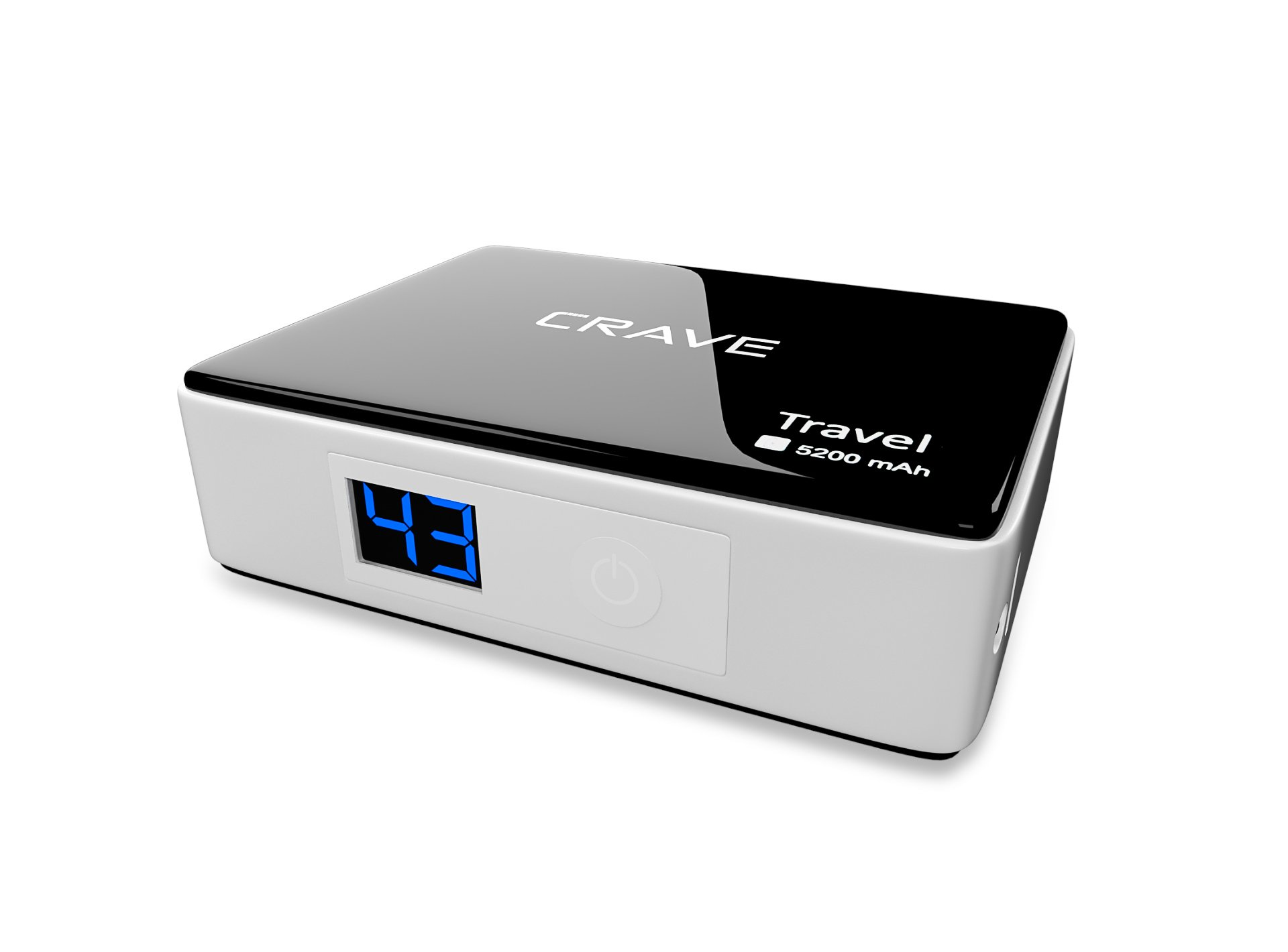 Portable Charger - Crave Travel 5200mah Ultra-compact Ultra-High Density, External Batter Charger Power Bank for Apple iPod, iPhone 4, 4s iPhone 5, 5S, iPhone 6, 6Plus, iPad Air, iPad Air2, iPad Mini, iPad Mini 2, iPad Mini 3, Samsung Galaxy S, SII, S3, S