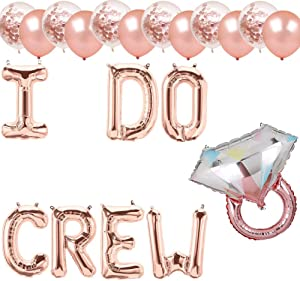 I Do Crew Balloons, I Do Crew Party Banner, Bridal Shower Engagement Bachelorette Wedding Party Supplies Decorations