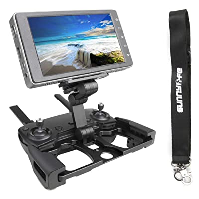 Anbee Foldable Aluminum Tablet Stand Cell Phone Bracket with Lanyard Support Crystal Sky Monitor Compatible with DJI Mavic 2 / Mavic Pro/Mini/Mavic Air/Spark Drone Remote Controller, Black: Arts, Crafts & Sewing