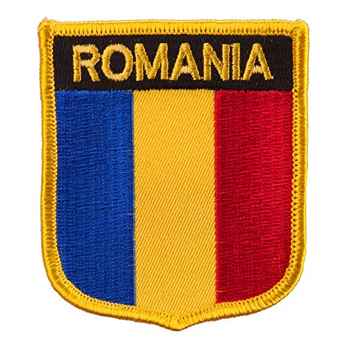 (Europe Flag Embroidered Patch Shield - Romania OSFM)