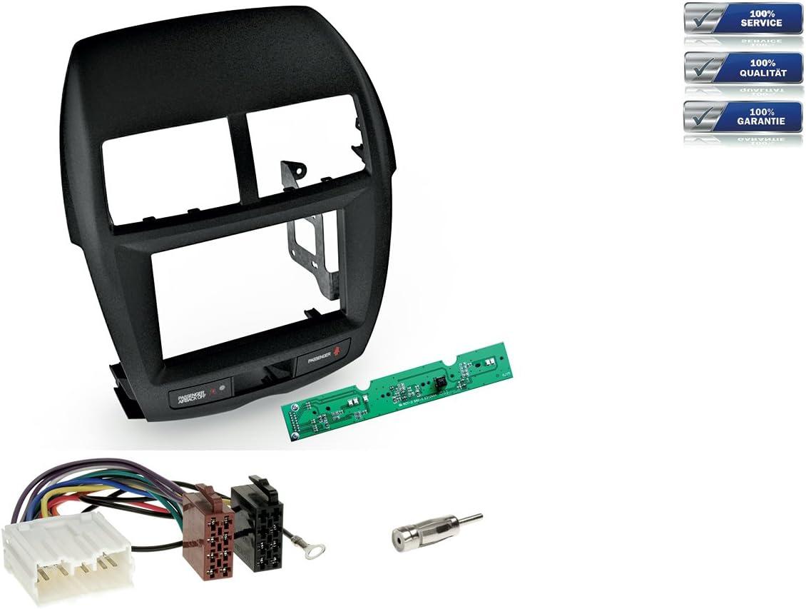 Niq Doppel Din Radioeinbau Komplettset Für Mitsubishi Elektronik