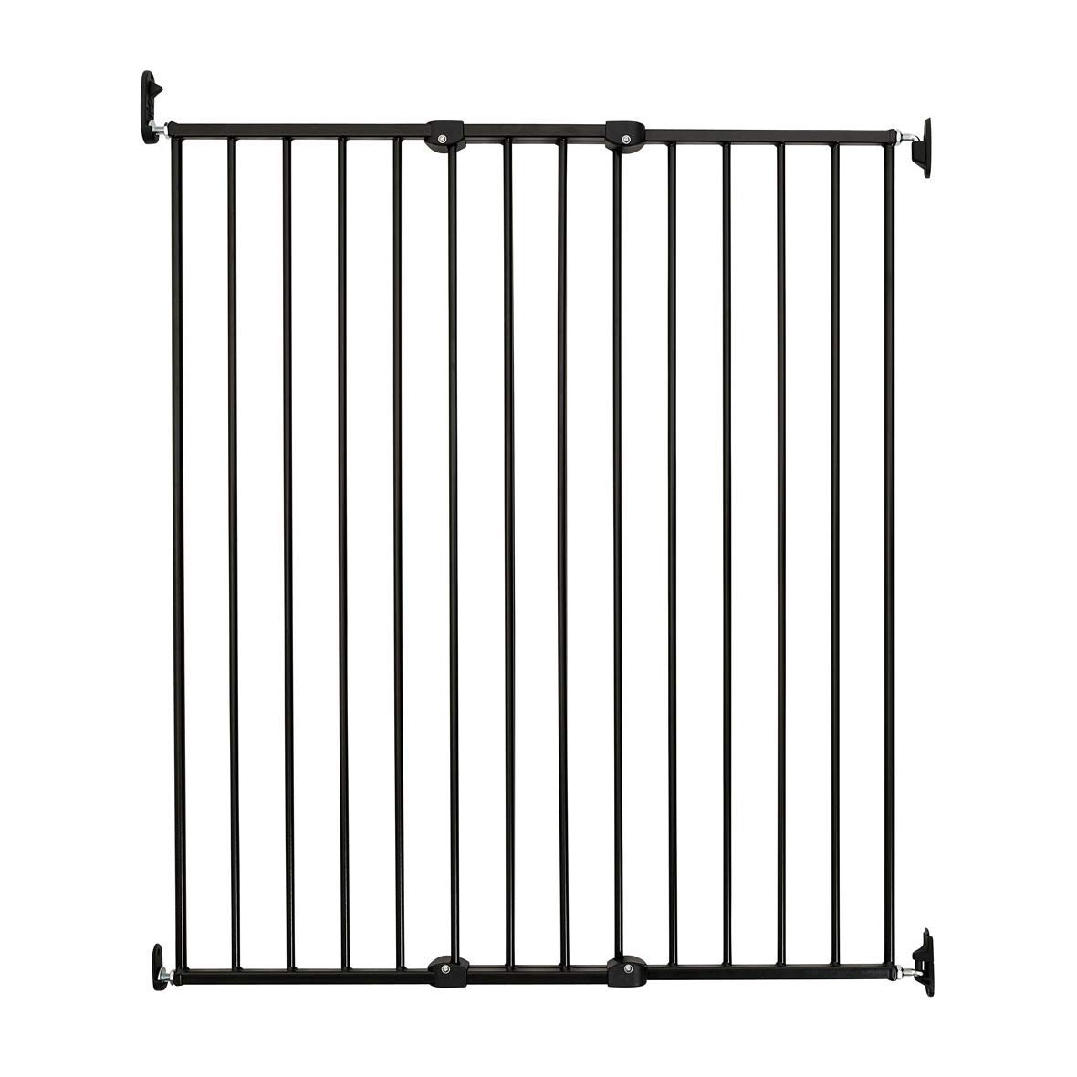 Scandinavian Pet Design Extra Tall 42 Wall Mount Portable Baby Pet Safety Gate for Large and Small Dogs, Black