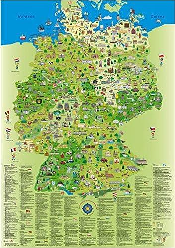 Deutschlandkarte Fur Kinder Und Erwachsene Planokarte Gerollt In