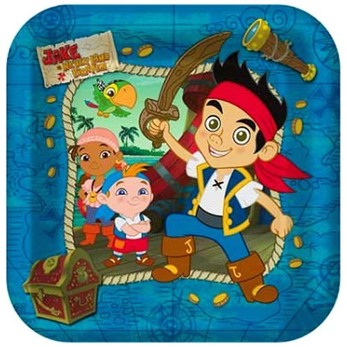 Jake & the Neverland Pirates Party Lunch/Dinner Plates - 24 Guests by Hallmark -