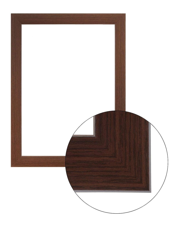 Framo36 Luxus 89 cm x 119 cm MDF Holz Bilderrahmen in Farbe Wenge
