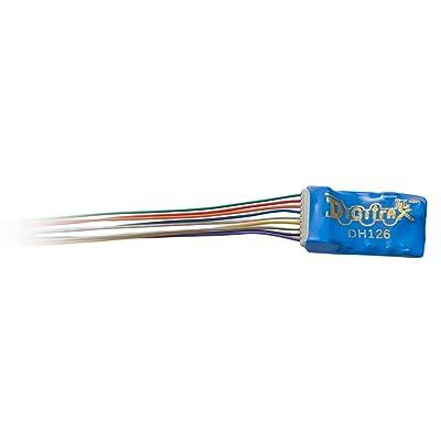 Digitrax DGTDH126D HO DCC Decoder Series 6, 6-Functions 9-Pin 1A: Toys & Games