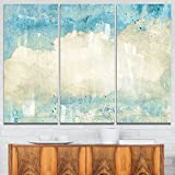 Designart MT6154-3P Sky on Wall Texture - Abstract Glossy Metal Wall Art,Sky,36x28
