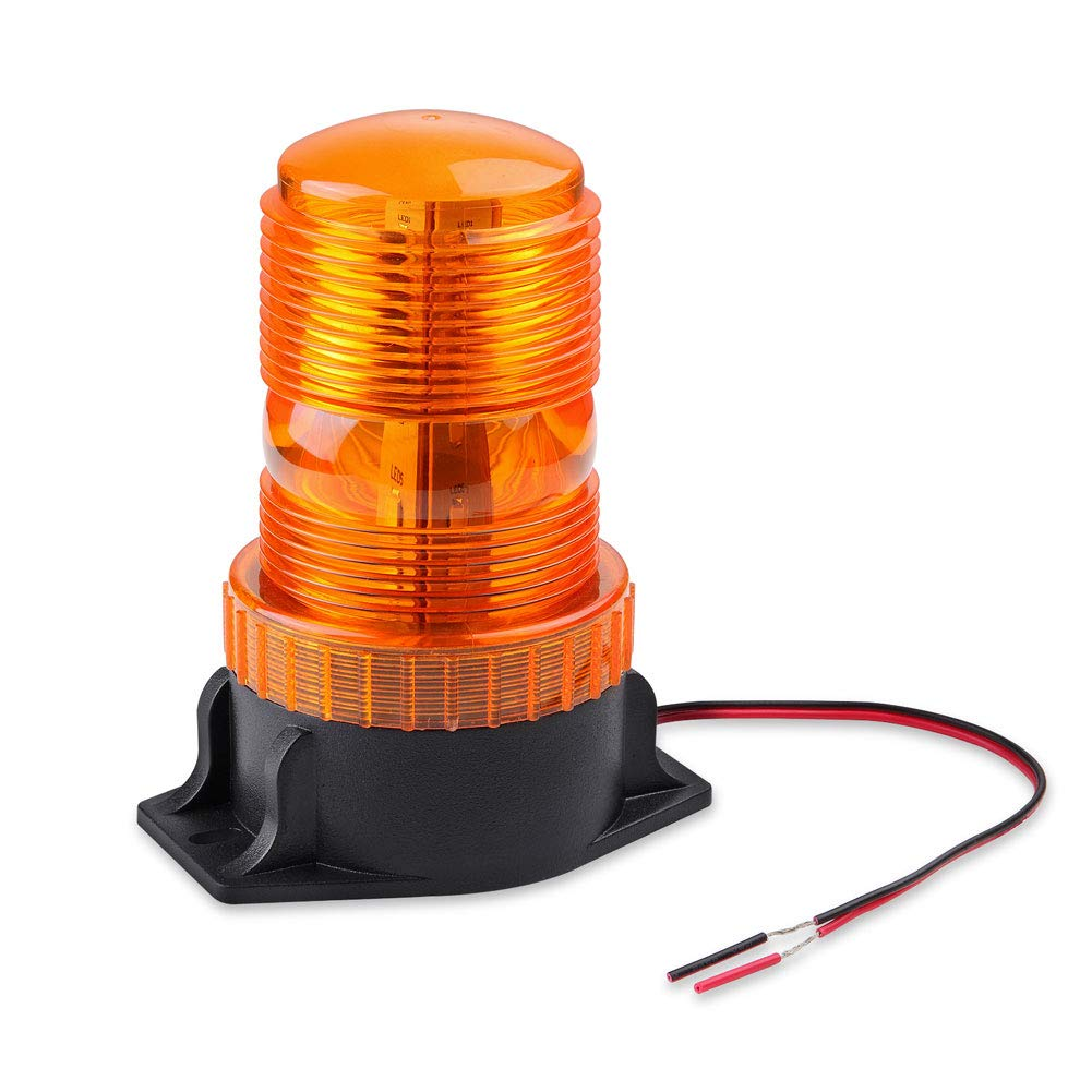 AT-HAIHAN Amber Emergency Hazard Warning Beacon Rooftop Strobe Light, 15W 30LEDs Waterproof for Any Public Utility Vehicles, Construction Vehicles or Tow Trucks etc.