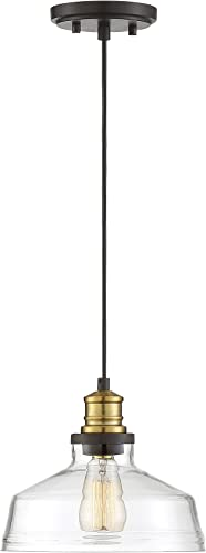 Trade Winds Lighting TW70049ORBNB Vintage Retro Industrial Hanging Pendant Light, 100 Watts, in Oil Rubbed Bronze