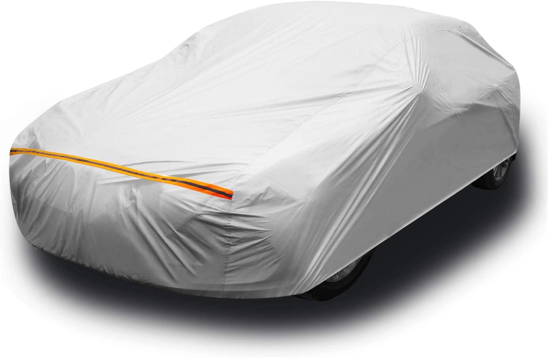 Car Cover for Sedan, Ohuhu Universal Sedan Car Covers Outdoor UV Protection Auto Cover L (191