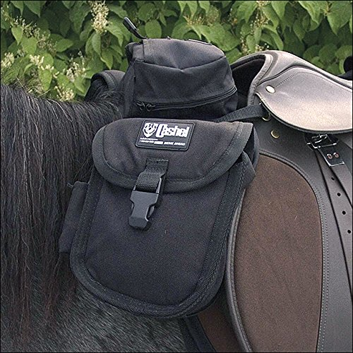 (Cashel Quality Deluxe English Front Saddle Bag, Center Pouch and Side Bags, 600 Denier Material - Color Choice: Black )