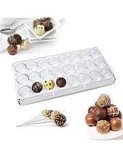 Janolia Molde de Chocolate, Molde de Bombones, con Forma de Medio Redondo y Materal