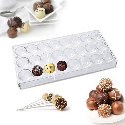 Janolia Moldes para Ladrillos de Chocolate, de Policarbonato Transparente para Hacer Chocolate, Moldes Duros para Caramelos, Chocolate y Dulces: Amazon.es: ...