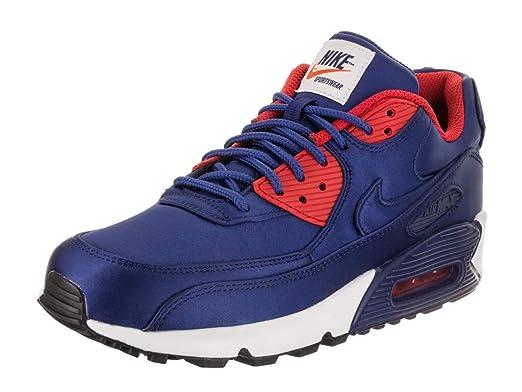 a50bbd34bf Nike Mens Air Max 90 SE Nylon Deep Royal Blue Trainers 8 US