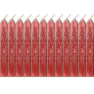 Amazon.com: Bememo - 12 barras de cera con mechas, cera de ...