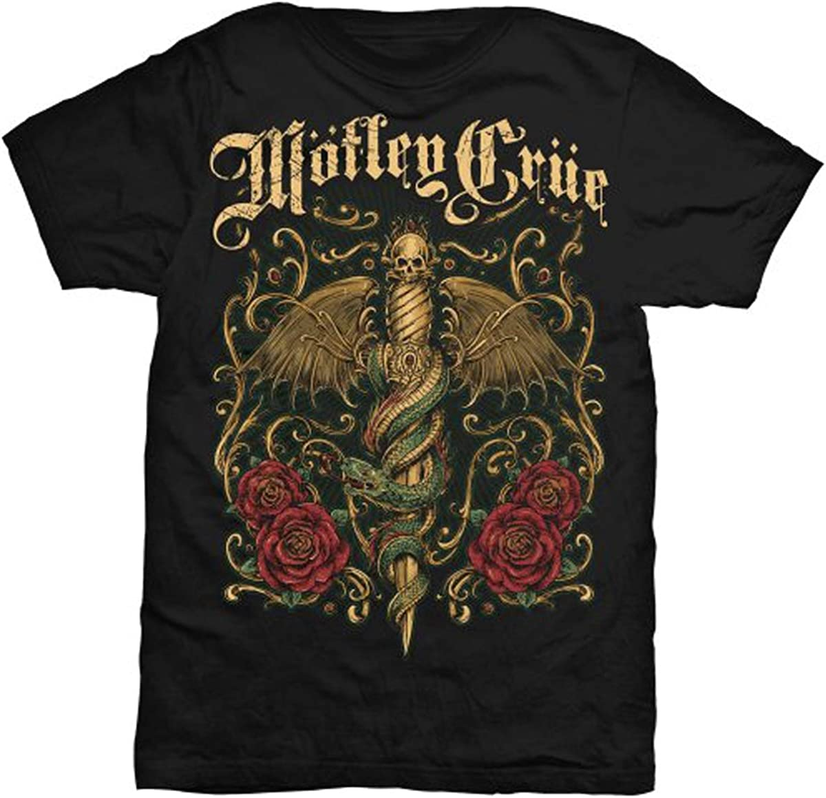 Motley Crue T Shirt Final World Tour 2015 Band Logo Officiel Homme