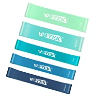 WOTEK Resistance Bands Set with Widen and Thicken, Exercise Bands for Working Out, Physical Therapy, Home Fitness, Strength Workout Bands for Legs and Butt.