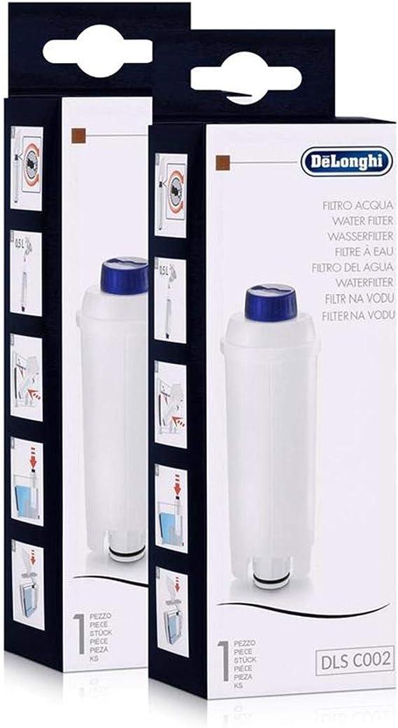 DeLonghi DLSC002 Filtro de agua para cafeteras (paquete de 2 ...