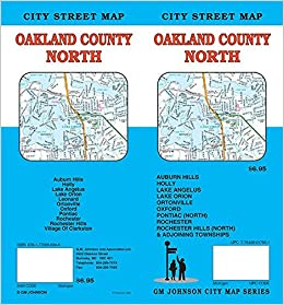 North Oakland County Michigan Street Map Gm Johnson 9781770686946