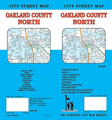 North Oakland County, Michigan Street Map