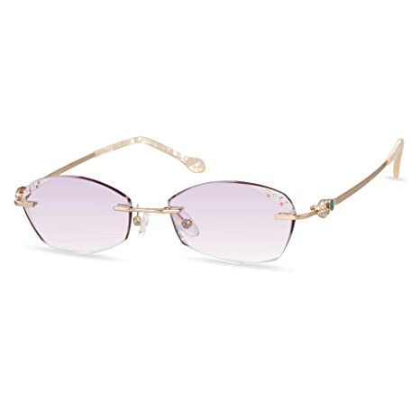 504b76321262 LifeArt Blue Light Blocking Rimless Glasses With Diamond,Hand Made Computer  Reading Glasses,Reduce