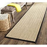 Safavieh Natural Fiber Collection NF115C Herringbone Natural and Black Seagrass Runner (2'6″ x 12′) Review