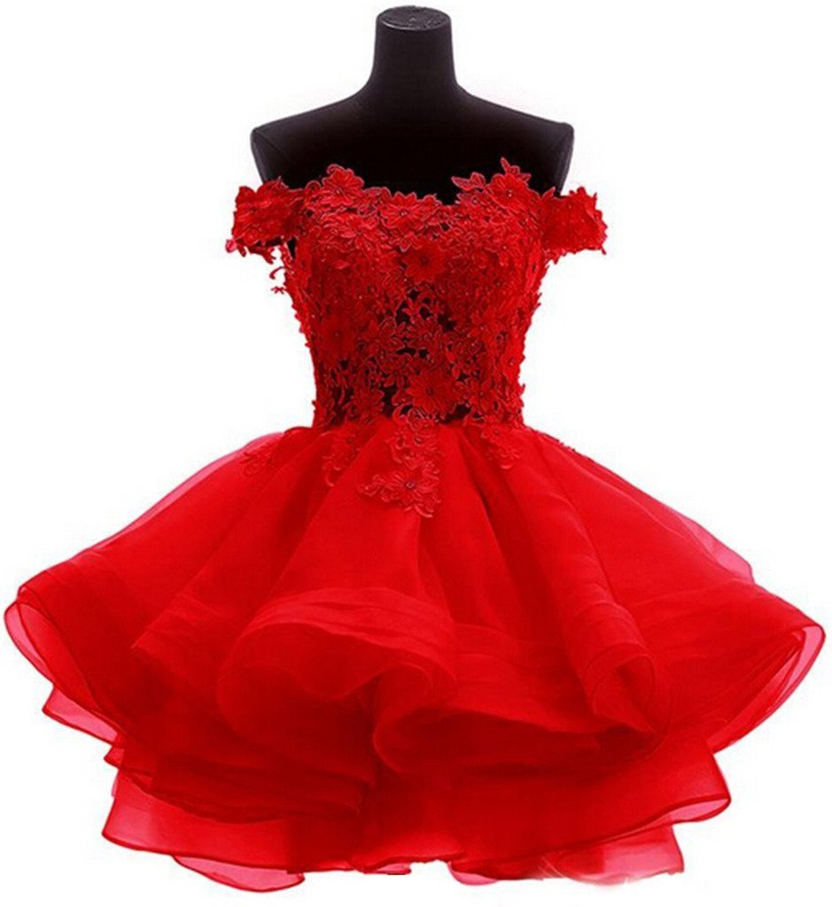 Snowskite Womens Lovely Short Cute Princess Homecoming Prom Dress 0 Red