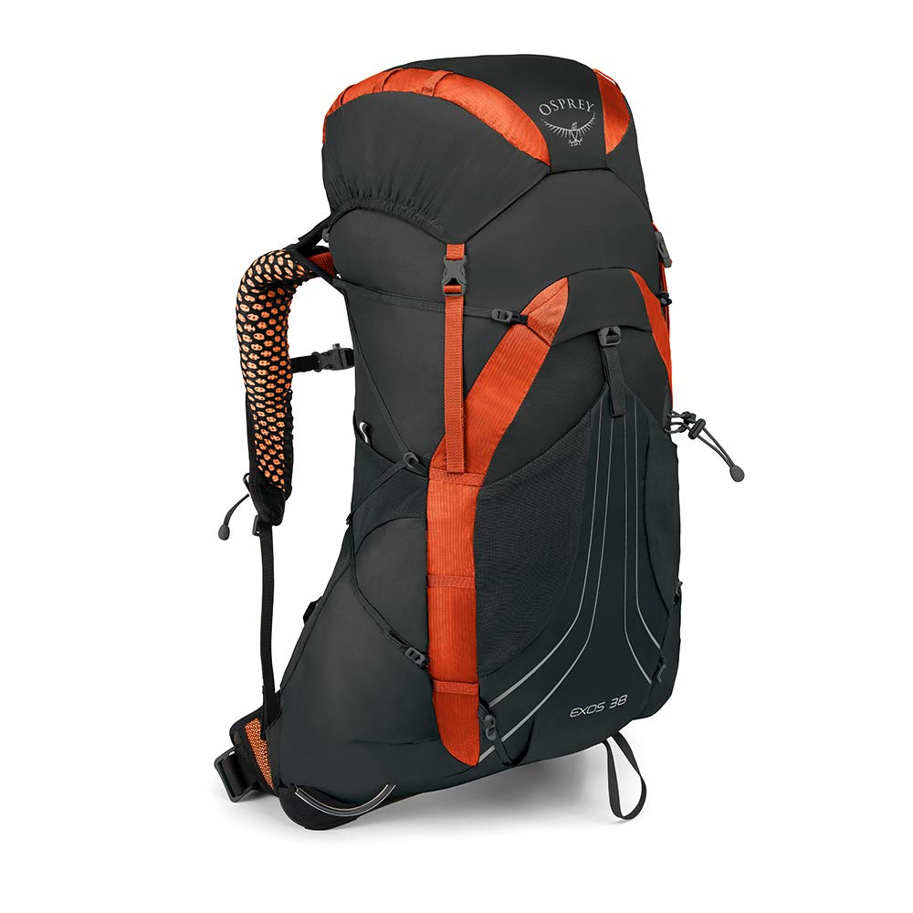 Osprey Packs Exos 38 Backpacking Pack, Blaze Black, Medium