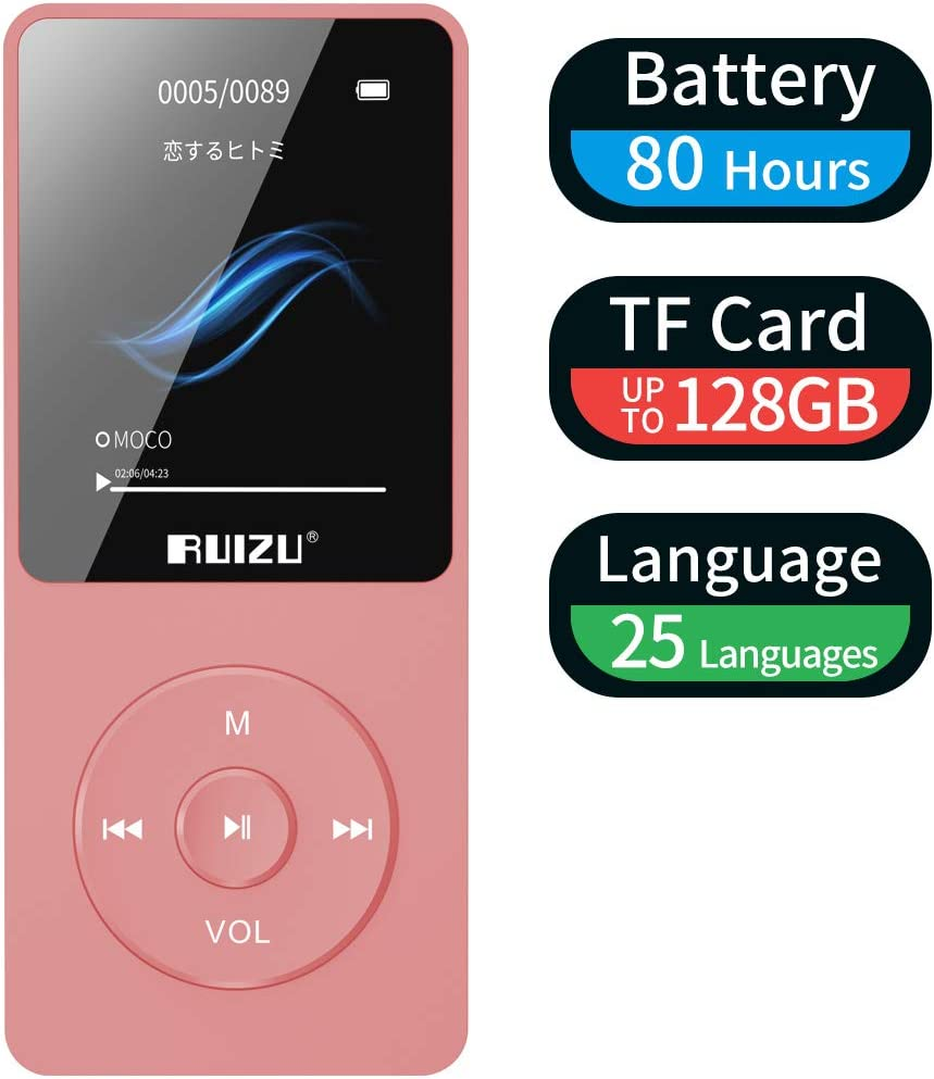 Mp3 Player, Ruizu X02 Ultra Slim Music Player With Fm Radio, Voice Recorder, Video Play, Text Reading