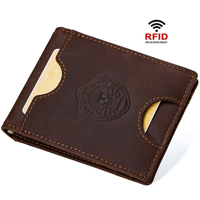 3d3ce20b8d3abb HHF Borse e Portafogli Porta carte di credito in pelle da uomo in carta anti -