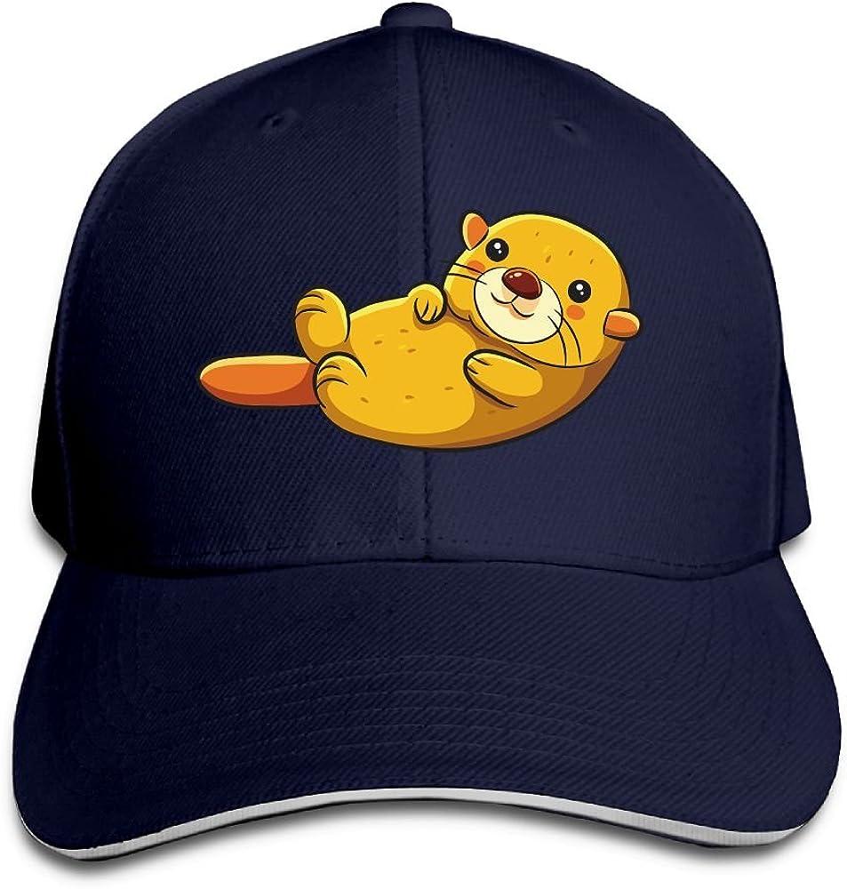 Unisex Cute Cartoon Mouse Art Sandwich Peaked Cap Adjustable Cotton Baseball Caps