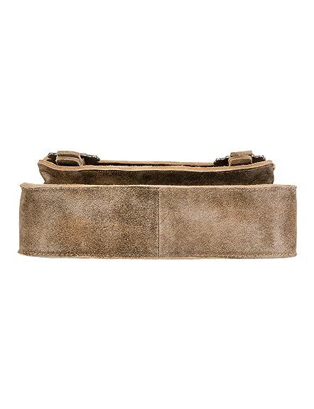 T5000 Hanf, Womens Cross-Body Bag, Braun (Hanf), 6x18x23 cm (wxhxd) Stockerpoint