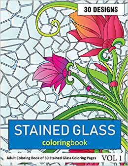 Stained Glass Coloring Book: 30 Coloring ... - Amazon.com