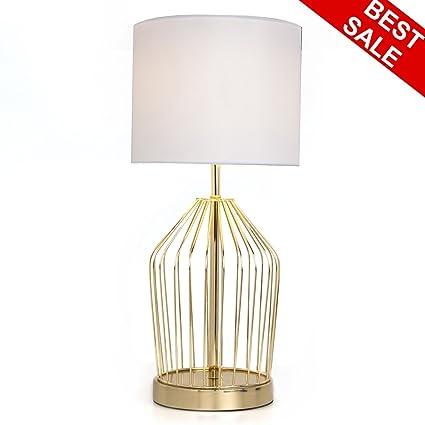 Sottae big golden hollowed out base living room bedroom bedside table lamp modern style desk