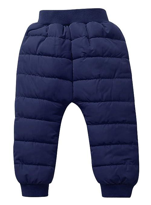 2b958923d1451 Happy Cherry - Pantalons Longue Bébés Garçon Fille Velours Chaud Hiver  Taille Élastique Couleur Pure Uni