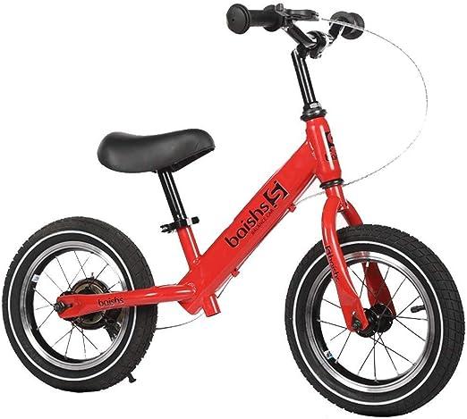 Bicicleta Sin Pedales Ultraligera Equilibrio de la bicicleta, sin pedales Bici de equilibrio, con freno manual - Para 2, 3, 4, 5, 6 años de edad, niños niñas, neumático neumático ligero, manillar y as: Amazon.es: Hogar