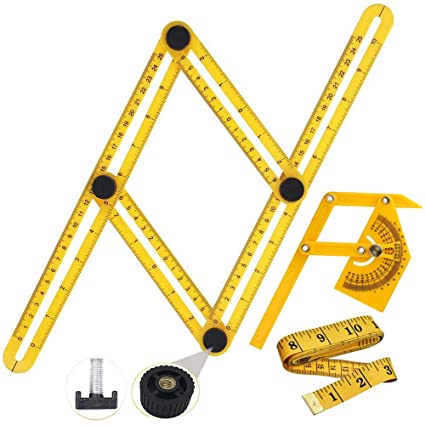 Multi Angle Tool, 3 SET Angleizer Easy Measuring Ruler Finder Layout ...