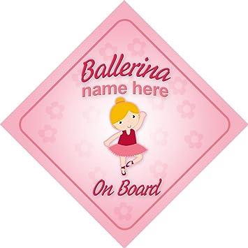 Amazon.com: Bailarina on board personalizado señal de coche ...
