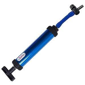 Vacuum Pump Handle LeLuv Aero Blue with Quick-Release Barbed Valve