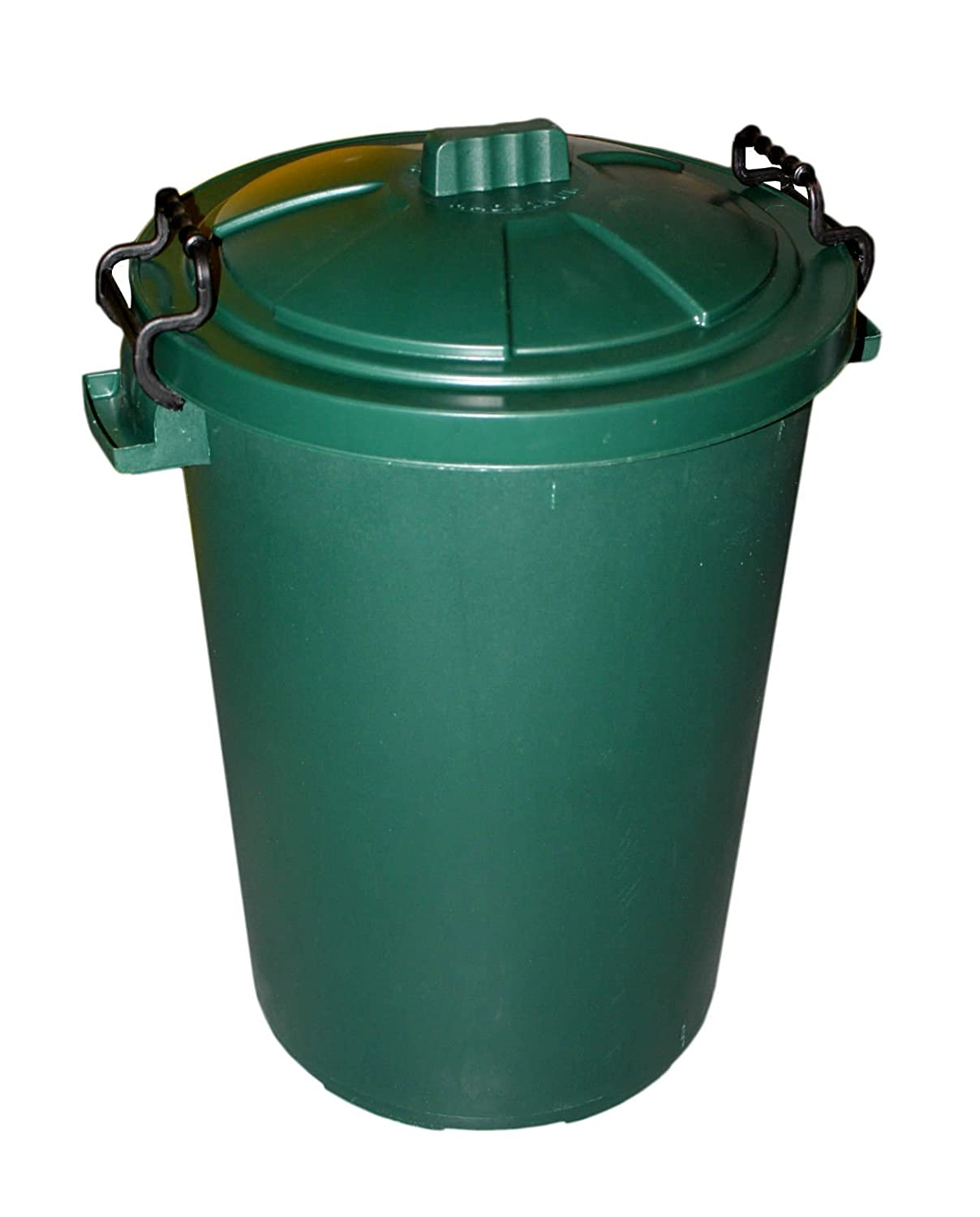 85L 85 Litre Green Plastic Bin Ideal for Animal Feed / Food Storage / Recycling / Waste with Lockable Handles