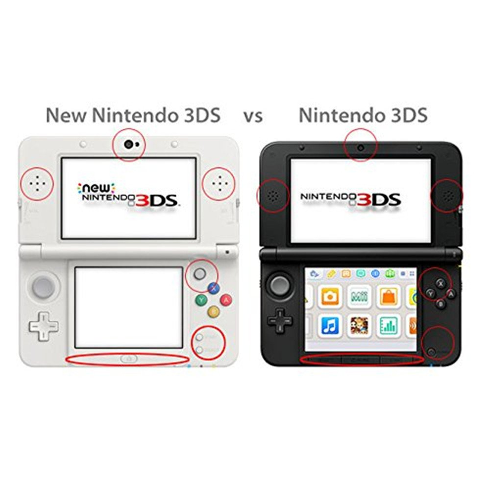 New 3DS XL 3DSLL Funda Full Body de aluminio de, hzdirect de ...