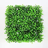 ULAND Artificial Boxwood Hedges Panels, Greenery Ivy Privacy Fence Screening, Home Garden Outdoor Wall Decoration, Pack of 4pcs 10'x10'