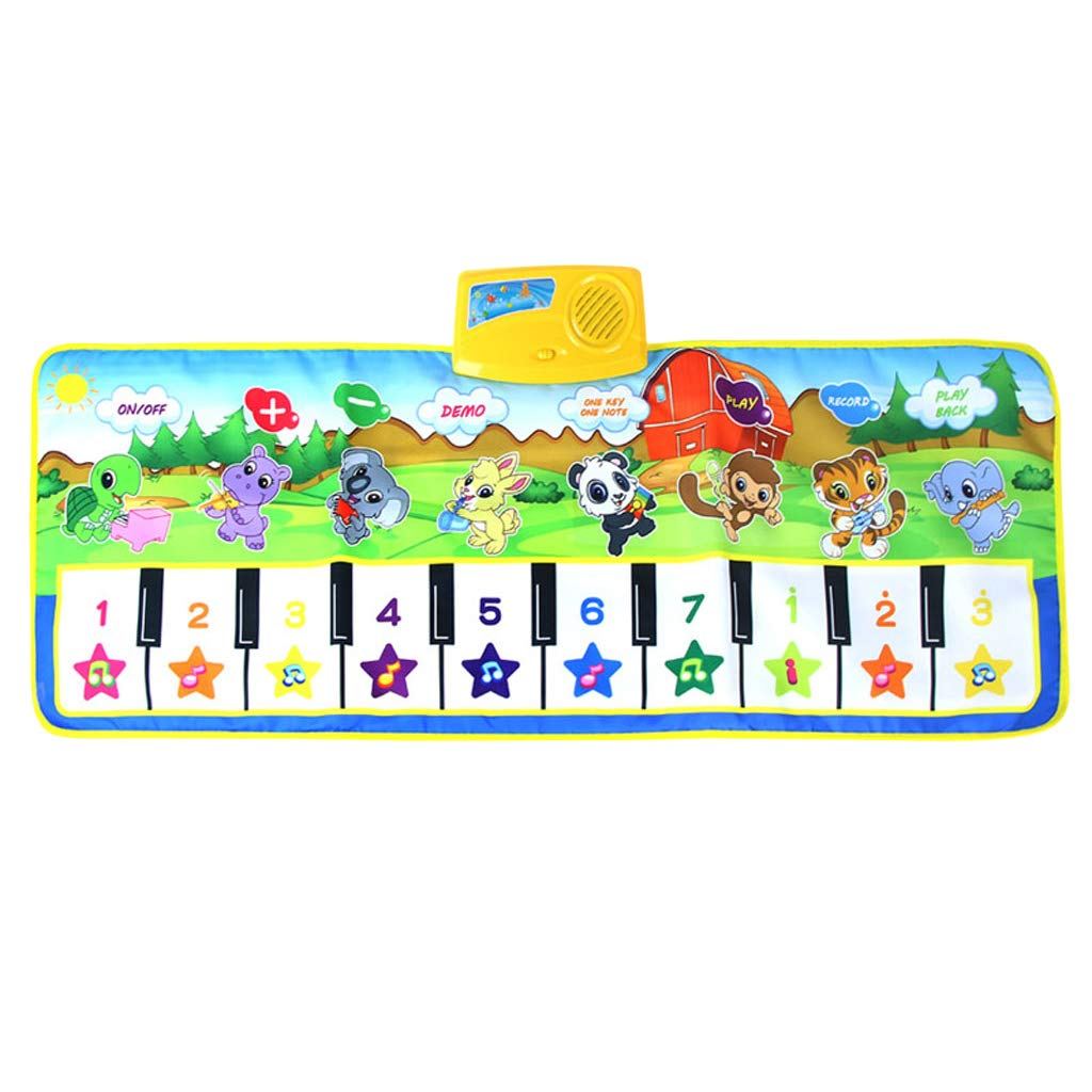 SM SunniMix Durable Piano Mat Electronic Music Carpet Touch Play Blanket, Perfect for Kids 2 to 5 Year Olds Dance & Learn (39x14 inch) by SM SunniMix (Image #3)