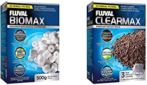 Fluval Biomax Bio Rings - 500 grams/17.63 Ounces Clearmax Phosphate Remover Filters, 3.5 Ounces - 3-Pack