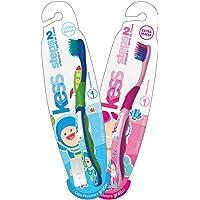 Escova Dentes Steps 2, Kess, Azul/Rosa