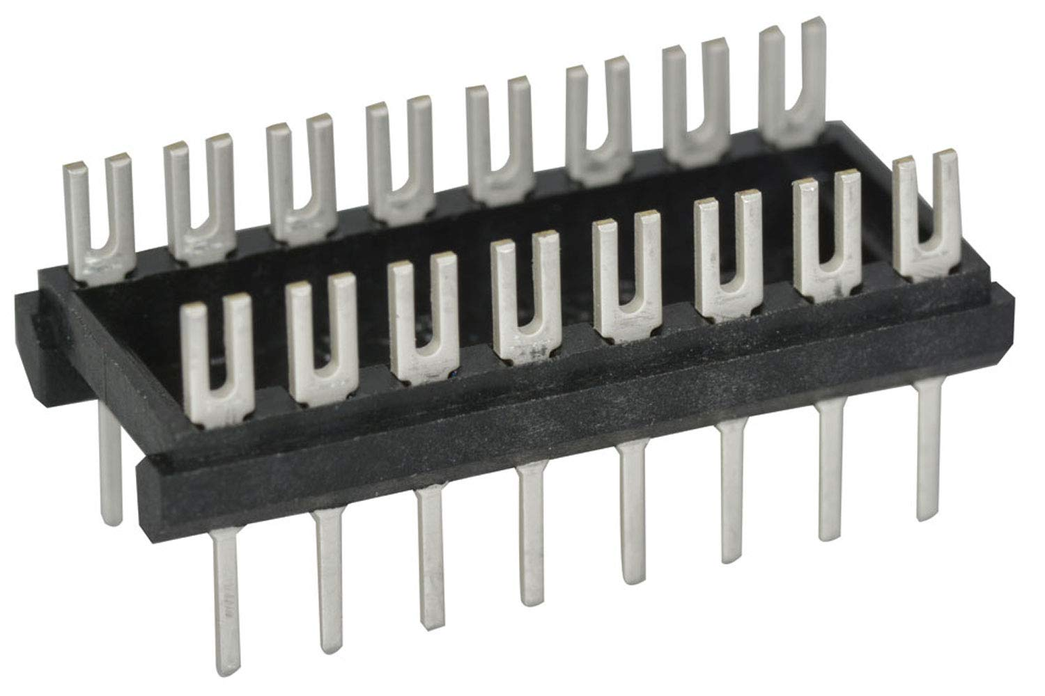 Aries Electronics DIP Adapter Header 16 Position 5.97 mm H x 21.59 mm L x 10.03 mm D Pack of 3 Straight Through Hole Aries 16-600-10 Connector Socket 2.54 mm Solder
